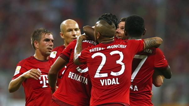 Bayern hit five past hamburg as Man City hit Chelsea where it hurts