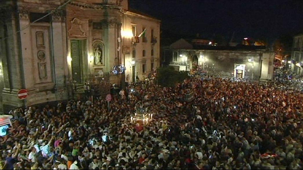Catania modifica su programa festivo para recordar a los 49 inmigrantes ahogados frente a la costa libia