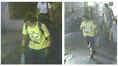 Un joven de aspecto asiático, principal sospechoso del atentado en el centro de Bangkok