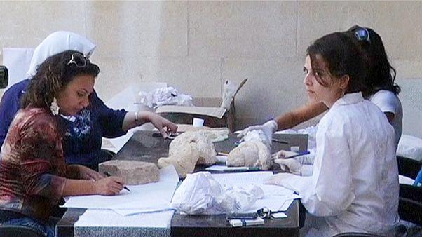 جمع آوری آثار باستانی سوریه و نگهداری آنها در محلی امن