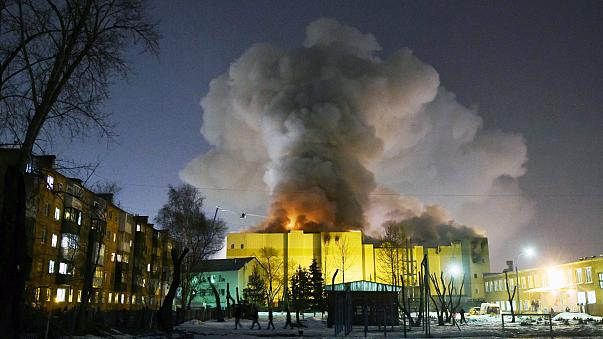 Image: Fire in Kemerovo shopping center