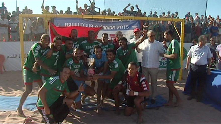 Сборная Марокко блеснула на пляже в Эль-Джадиде