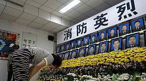 China homenageia vítimas de Tianjin com flores