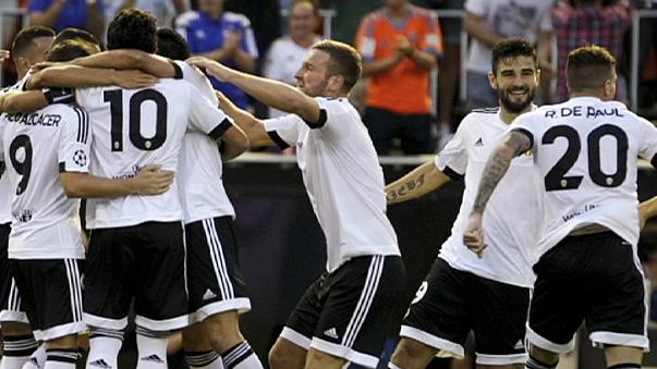 Valencia close in on Champions League spot with Monaco win
