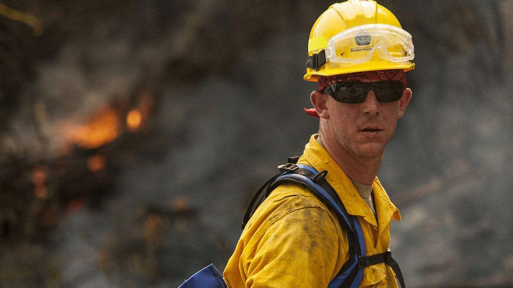 Usa: costa ovest in fiamme, 3 pompieri morti nello Stato di Washington