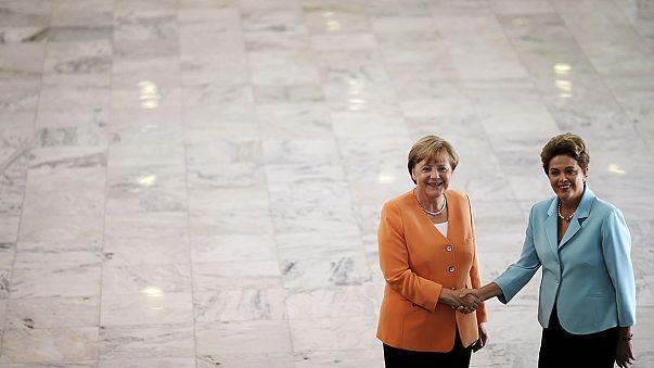 Merkel se muestra optimista sobre el acuerdo de libre comercio entre la UE y Mercosur en su visita a Brasil