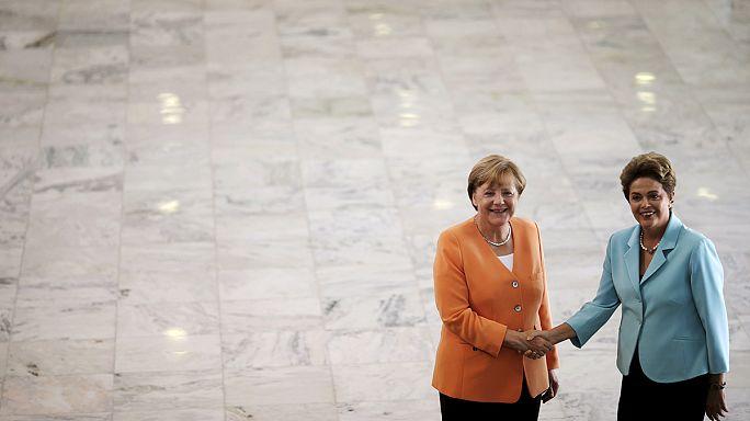 A német gazdaságért lobbizik Merkel Brazíliában