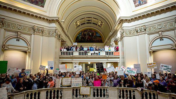 Image: Oklahoma Teachers Strike Enters Third Day