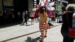 De Blasio em cruzada contra os seios nus em Times Square