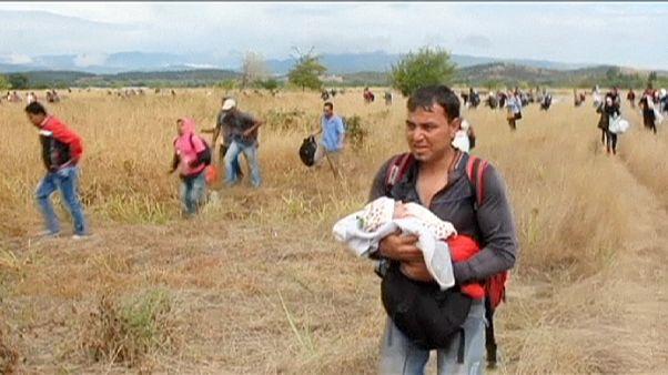 اغتشاش در پی غلبه مهاجران بر پلیس در مرز یونان و مقدونیه