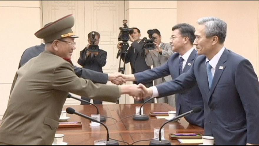 Day two of North and South Korea crisis talks to ease tensions