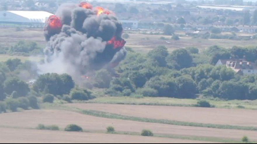 ارتفاع حصيلة عدد ضحايا تحطم مقاتلة بريطانية إلى 11 قتيلا