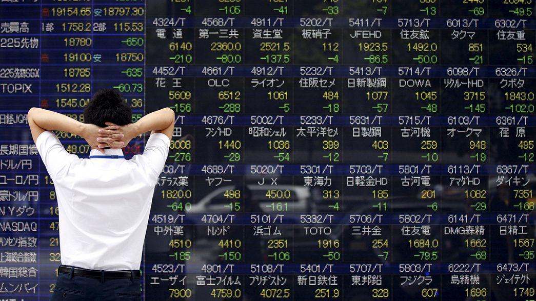 Caída libre en los mercados asiáticos