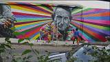 Kobra amplifies Sao Paulo's reality with new murals