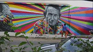 Brasilianische Straßenkunst prangert Probleme an