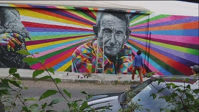 Eduardo Kobra São Pauló-i kaleidoszkópja: falra festett üzenetek