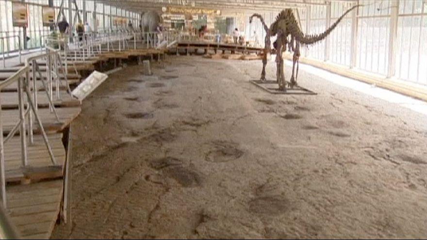 Descubren decenas de huellas de un dinosaurio en Alemania