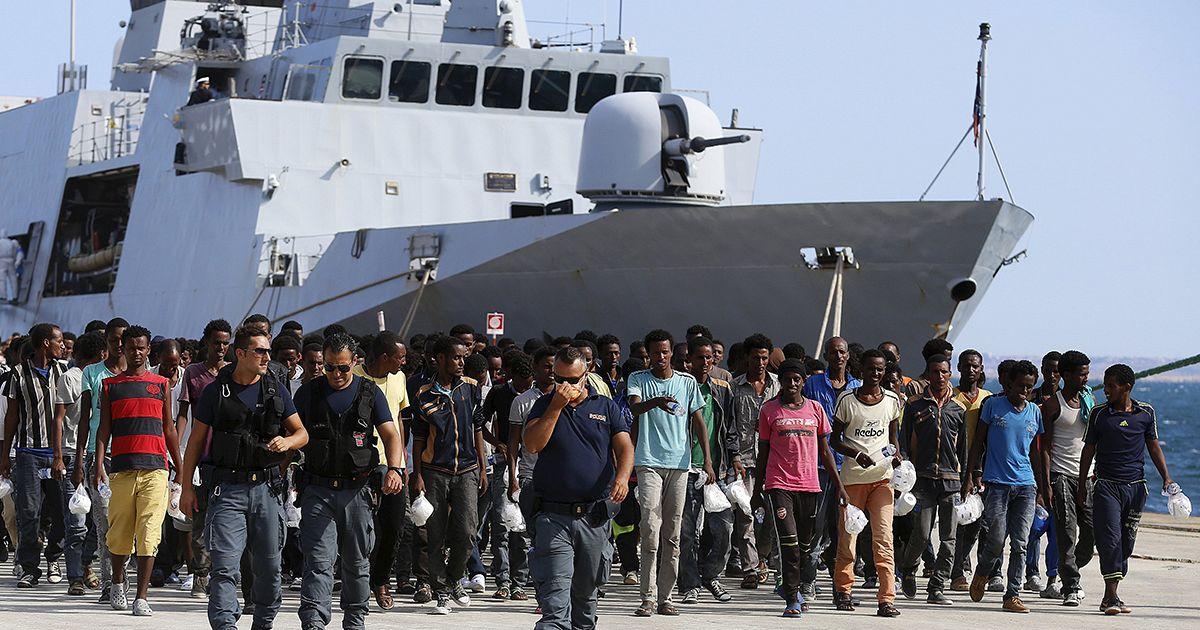 Asielzoekers Italië