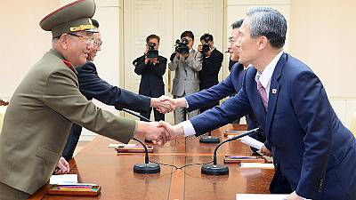 North and South Korea end stand off after intense talks