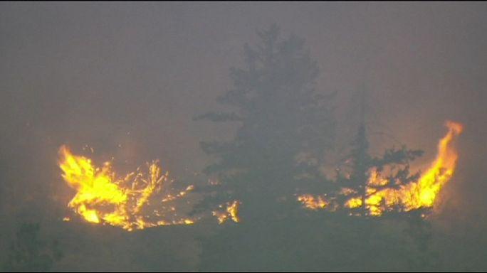 Лесные пожары в штате Вашингтон: борьба с огнем продолжается