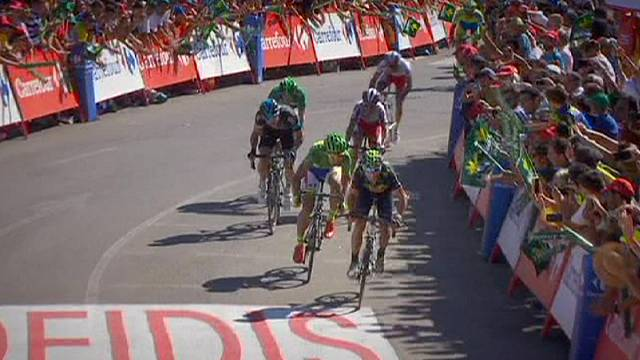 Valverde wins stage 4 of the Vuelta a España