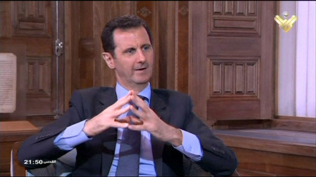 Bashar Al-Assad fiducioso nell'appoggio di Russia ed Iran