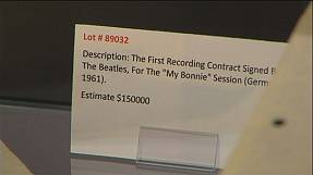 Beatles first recording contract up for auction