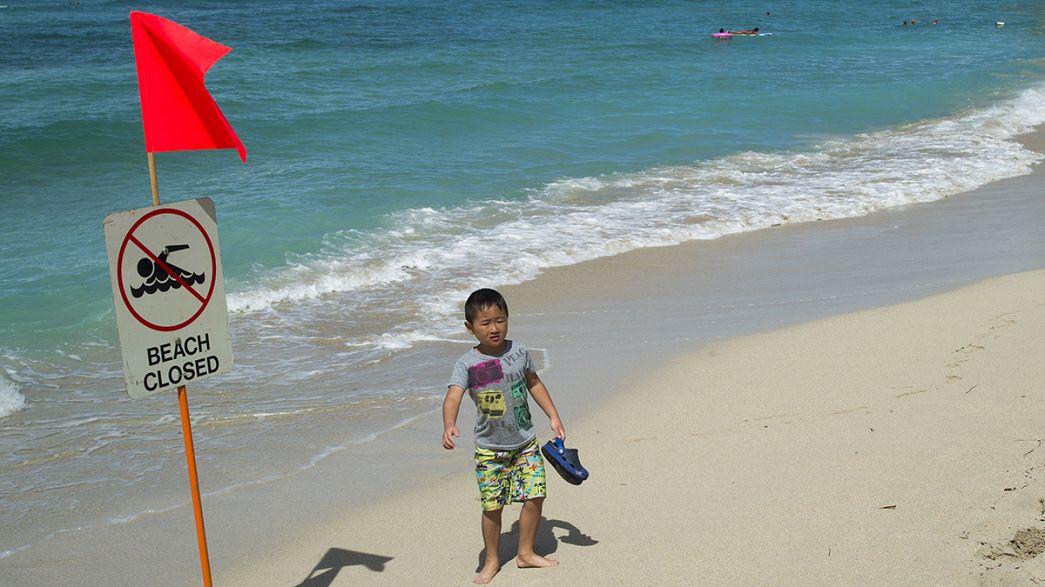 تسرب مياه الصرف الصحي إلى شواطىء جزيرة هونولولوأهم وجهة سياحية عالمية