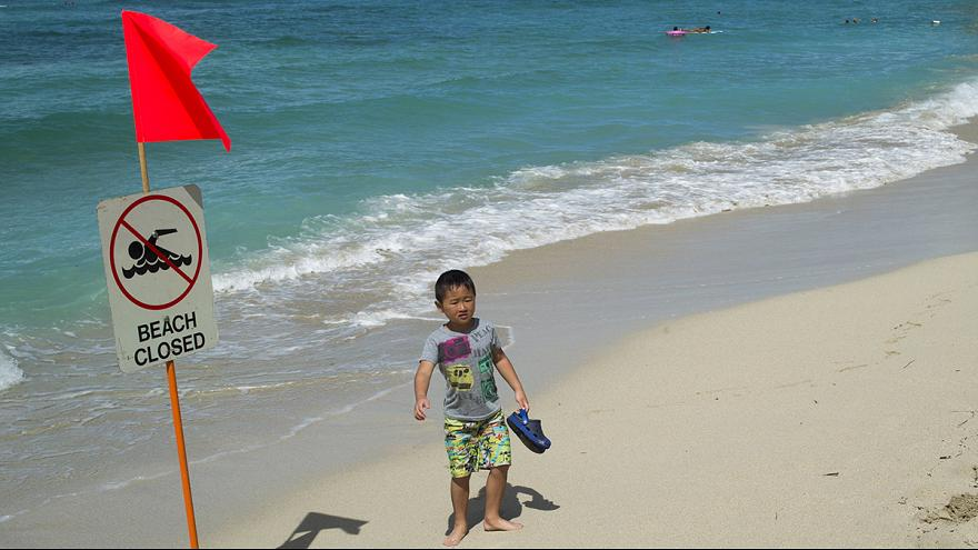 Alerta de contaminación en las playas de Waikiki en Honolulu