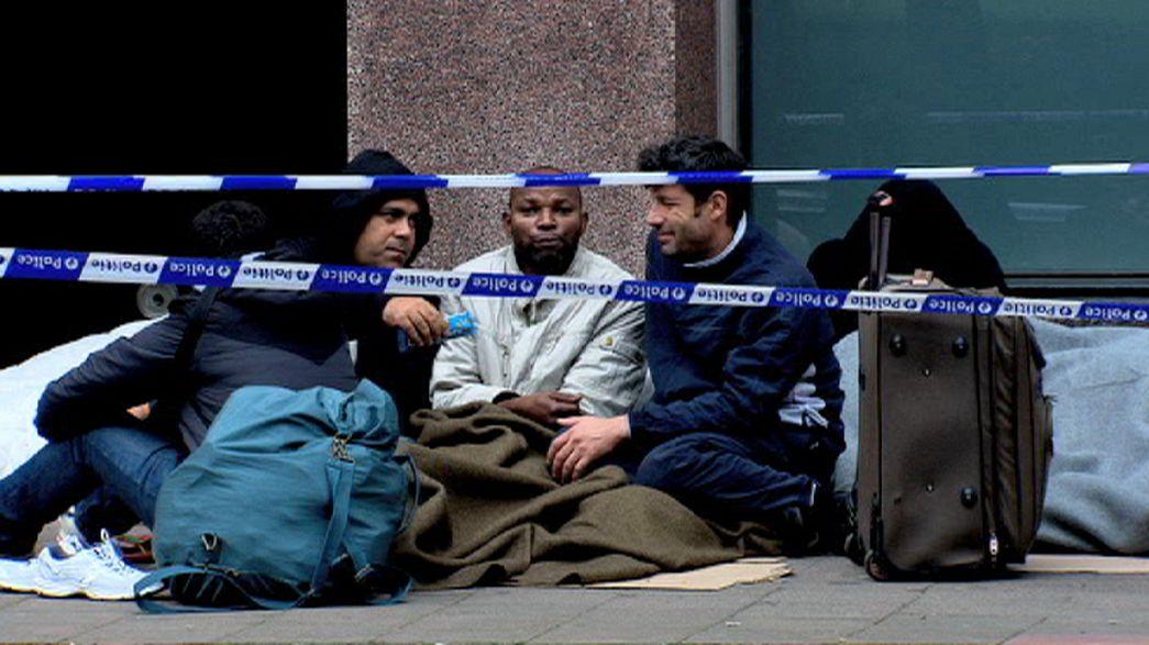 Bruxelles: Des migrants forcés de dormir dans la rue