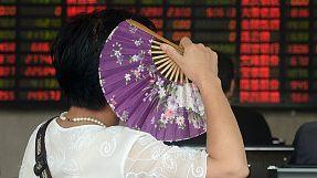La bolsa china continúa en rojo, pese a la bajada de los tipos de interés