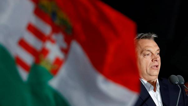 Image: Hungarian Prime Minister Viktor Orban addresses the supporters after