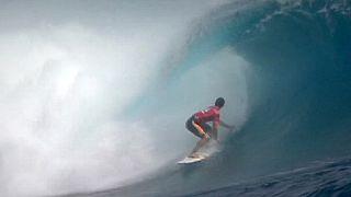 ژرمی فلور فرانسوی فاتح مسابقات موج سواری تاهیتی شد
