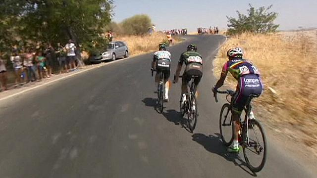 Caleb Ewan surged to victory in the fifth stage of the Vuelta