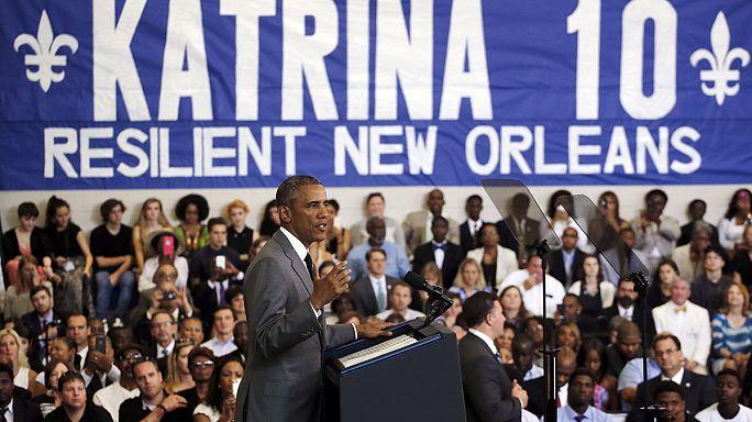 أوباما يشيد بعملية الإعمار في نيوأورلينز بعد عشر سنوات على مرور إعصار كاترينا المدمر