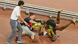 Usain Bolt felled by cameraman on segway