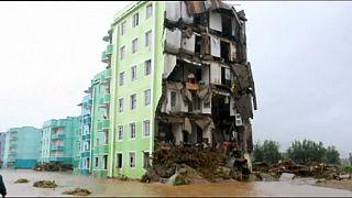 مقتل 40 شخصا بسبب الفيضانات في كوريا الشمالية