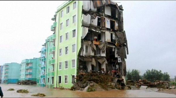 دهها کشته بر اثر سیلاب در کره شمالی