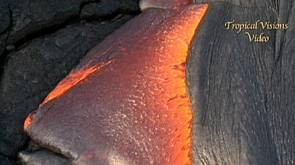 Lavafluss aus Hawaii's Kilauea-Vulkan
