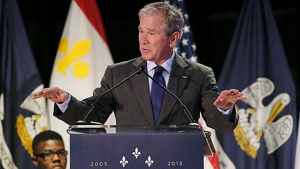 "Буш сплясал на 10-летии урагана ""Катрина"""