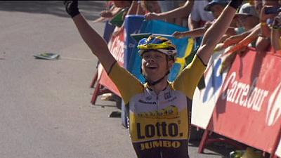 Vuelta a Espana: Lindeman wins stage seven as Froome loses time on title rivals