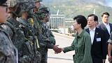 Президент Южной Кореи посетила армейские учения