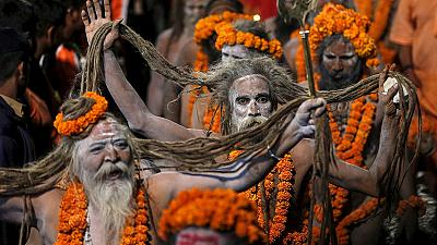 Kumbh Mela pilgrimage in India