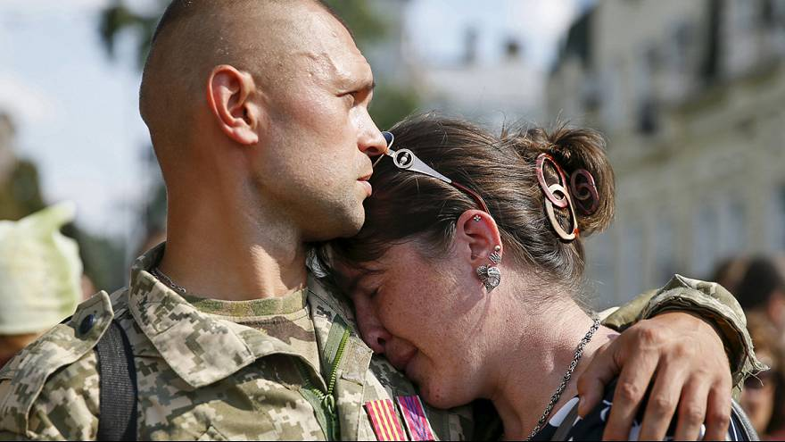 """Primer aniversario de la """"tragedia de Ilovaisk"""", en la que murieron 366 uniformados ucranianos"""