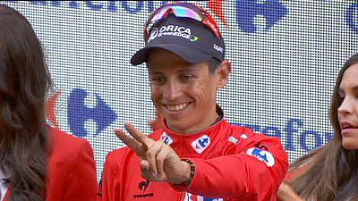 La accidentada octava etapa de la Vuelta deja a cuatro ciclistas en el hospital