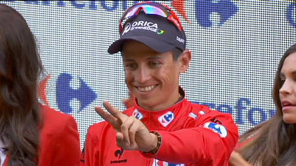 Chavas retains red as Stuyven wins crash-hit Vuelta stage