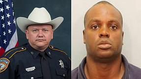 Hundreds pay tribute to police officer killed at a Texas petrol station