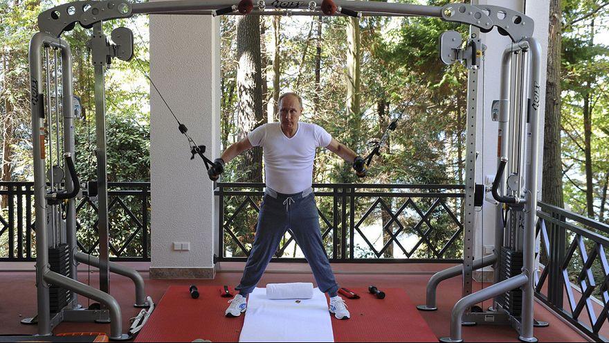 Putin y Medvédev comparten pesas