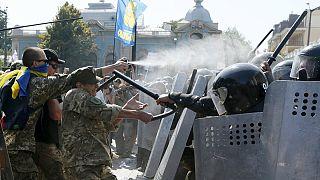 Varios heridos en una manifestación contra la descentralización de Ucrania