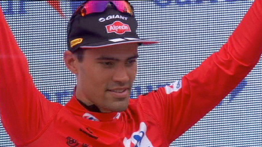 Kristian Sbaragli gana la décima etapa de la Vuelta y Domoulin se mantiene líder